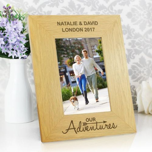 Our Adventures 4x6 Wooden Photo Frame